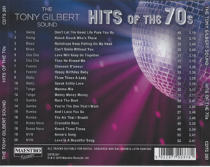 TONY GILBERT 'Hits of the 70s' CDTS 261