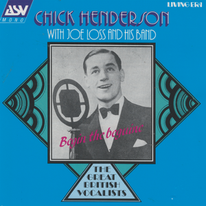 CHICK HENDERSON ' Begin The Beguine' CD AJA 5083