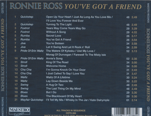 "RONNIE ROSS ""You've Got A Friend' CDTS 268"