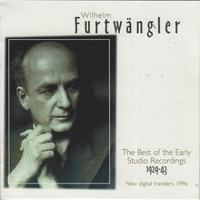 FURTWANGLER 'The Best of the Early Studio Recordings- 1929-1943' 4-CD 954