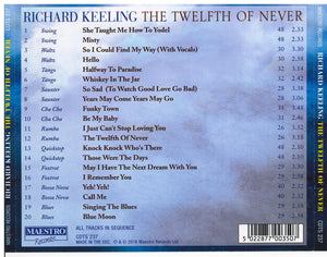 RICHARD KEELING 'The Twelfth Of Never' CDTS 237
