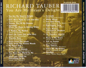 RICHARD TAUBER 'You Are My Heart's Delight' PLATCD 564