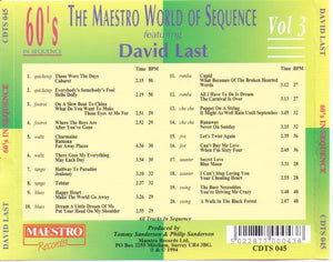 "DAVID LAST ""60's in Sequence"" CDTS 045"