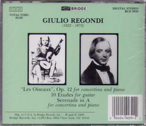 THE GREAT REGONDI...BCD 9039