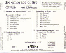 """THE EMBRACE OF FIRE"" CD 7022"