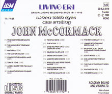 JOHN McCORMACK - When Irish Eyes Are Smiling - CD AJA 5119