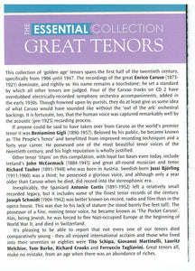 GREAT TENORS 'The Essential Collection' 2-CD AVC 891 ($29.95 Post Free)