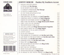 "JOHNNY MERCER ""Pardon My Southern Accent"" CDHD 203"