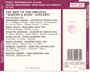 MARTINI & ROSSI CONCERTS - 2CD-HR 4419