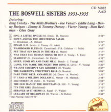 THE BOSWELL SISTERS 1931-1935 - CD 56082
