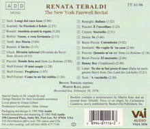 Renata Tebaldi - The New York Farewell Recital - VAIA 1116