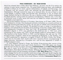PAUL ROBESON - Ol' Man River - His 56 Finest - RTS 4116 2-cd Set