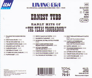ERNEST TUBB - The Texas Troubadour - CD AJA 5322