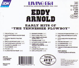 "EDDY ARNOLD - Early hits of ""The Tennessee Plowboy"" - CD AJA 5321"