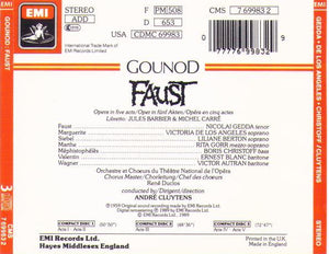 FAUST / Gedda/de los Angeles/Christoff- 7 69983-2 (3-cd Set)