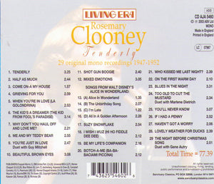 "ROSEMARY CLOONEY ""Tenderly"" CD AJA 5460"
