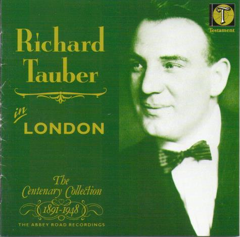 RICHARD TAUBER 'In London' SBT 1006