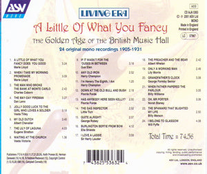 A LITTLE OF WHAT YOU FANCY  CD AJA 5363 5363