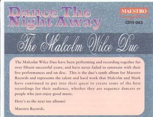 THE MALCOLM WILCE DUO 'Dance The Night Away' CDTS 083