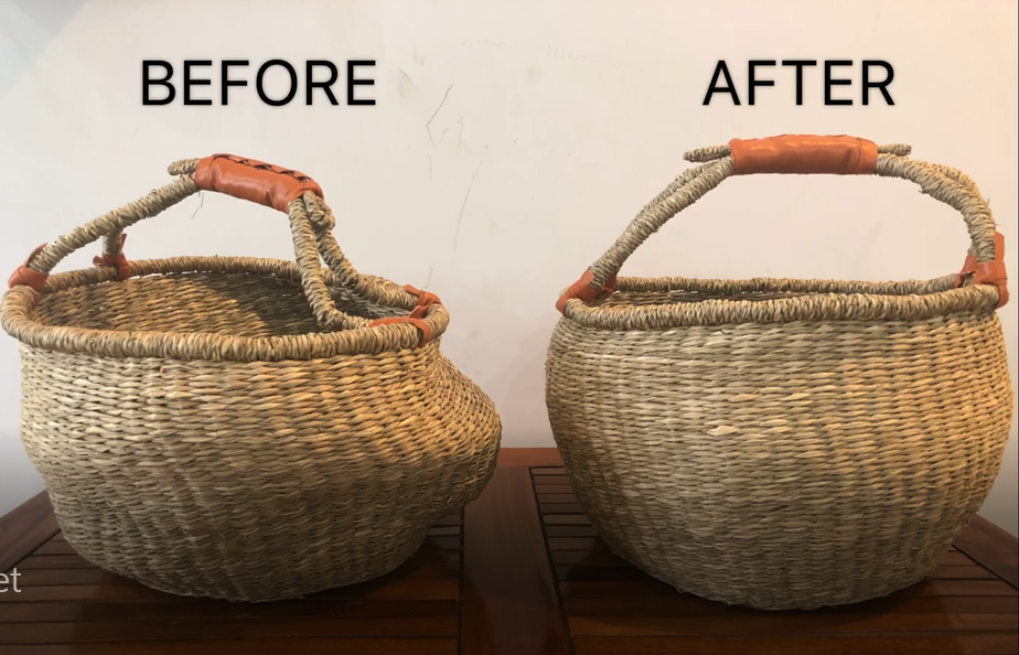How To Reshape a Bolga Basket?