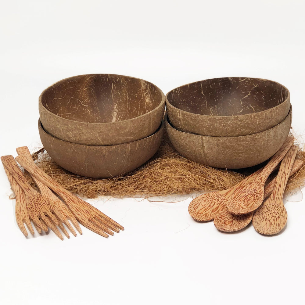 Cocoboo Organic Natural Coconut Shell Bowls Gift Set 4