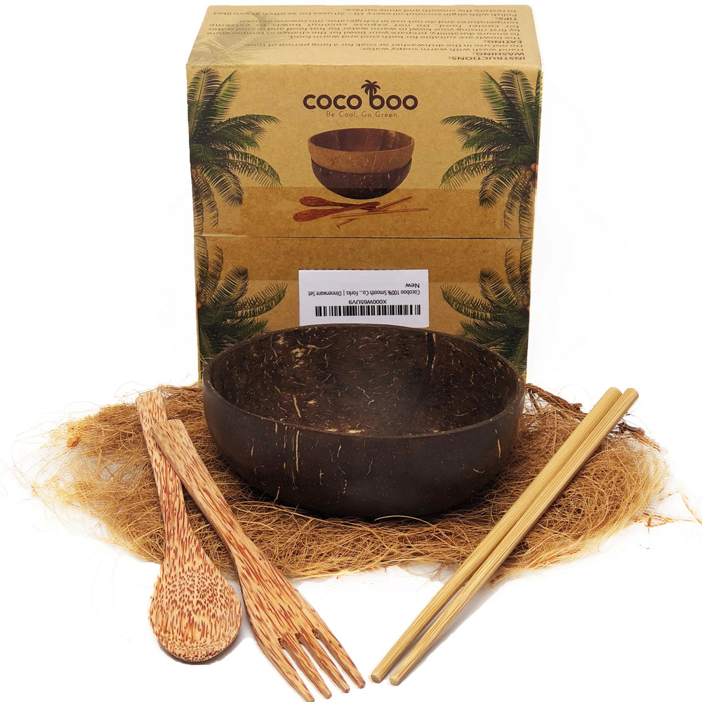 Cocoboo Organic Smooth Coconut Shell Bowl Gift Set 1