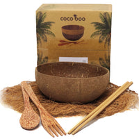 Cocoboo Organic Natural Coconut Shell Bowl Gift Set 1