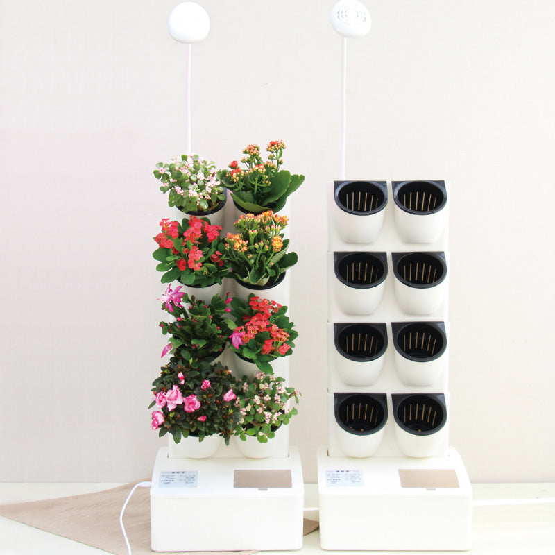 Smarty Garden Self Watering Wall Planter with Led Lamp (Includes egift Card for 3 Packs of Seeds)