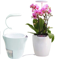 SmartyGarden - Self Watering Flower Pot with Led Lamp