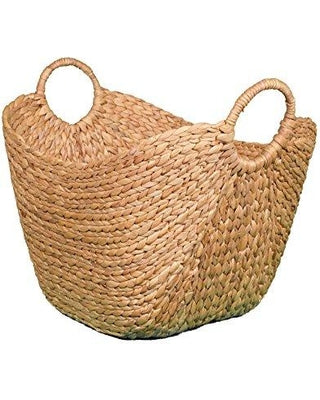Cocoboo Water Hyacinth Basket (21/10 inches X 15/10 inches X 13/19 inches)
