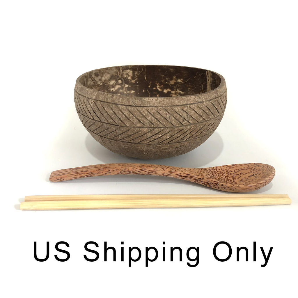 Cocoboo Organic Natural Jumbo Coconut Shell Bowl Gift Set 1