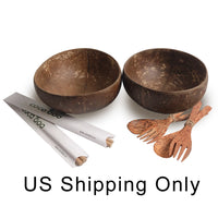 Cocoboo Organic Smooth Coconut Shell Bowls Gift Set 2