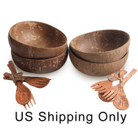 Cocoboo Organic Coconut Shell Bowls Gift Set 4 Mix