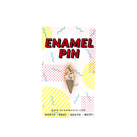 Ice Cream Cone Enamel Pin