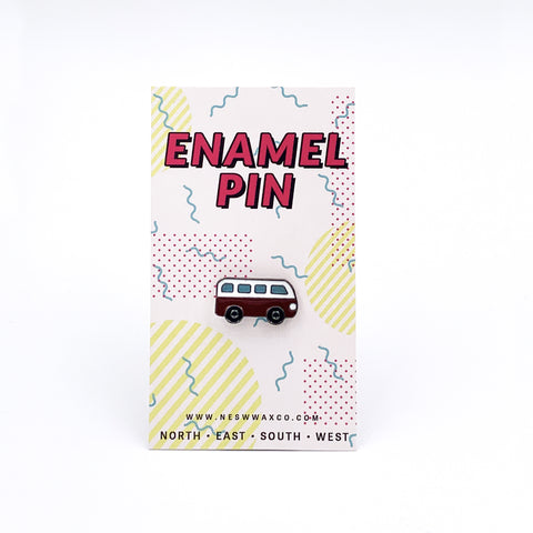 Red Bus Enamel Pin