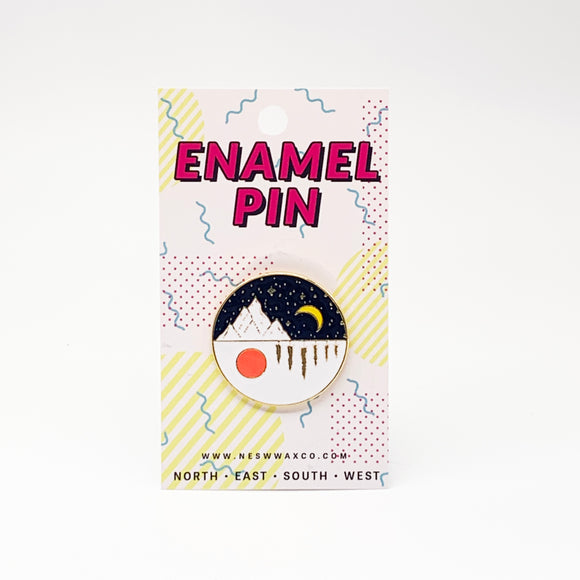 Day and Night Enamel Pin