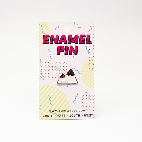 Gold Mountain Range Enamel Pin