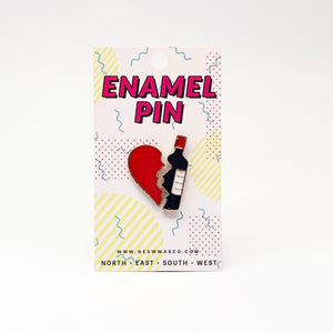 In Love With Wine Enamel Pin