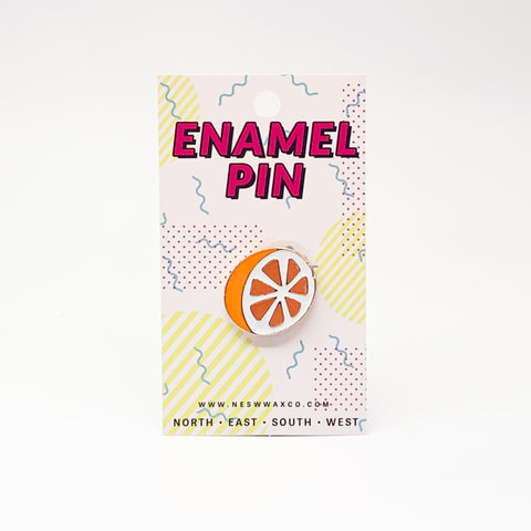 Orange Slice Enamel Pin