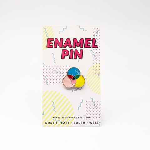 Venn Diagram Enamel Pin