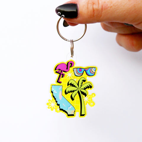 Totally California Keychain
