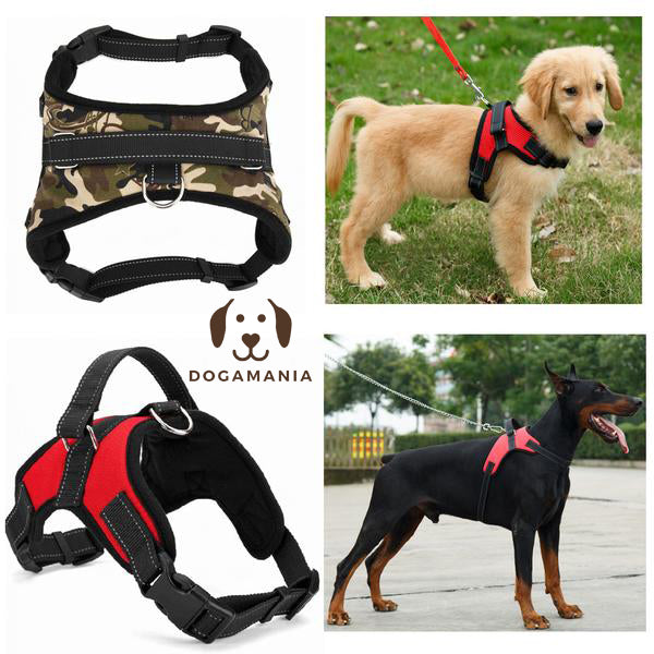 Dogs Harness Collar Soft Leash Padded No Pull Dog Harness