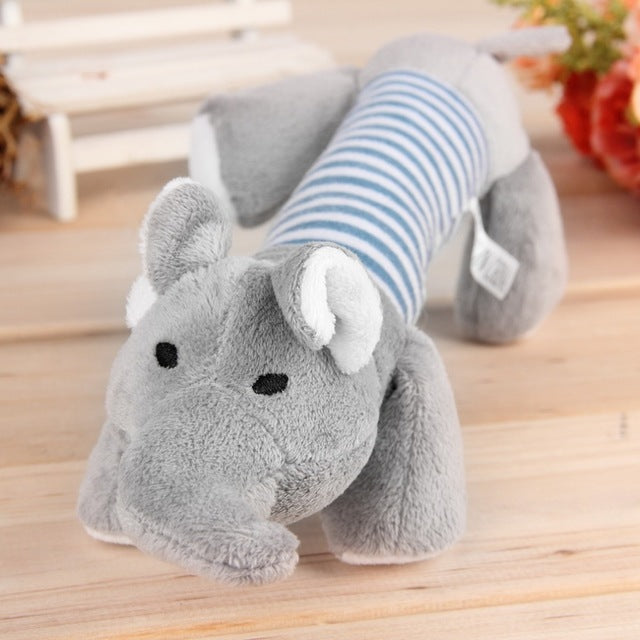 Squeaky Dog Toys Plush Toys For Dogs Any Size, Duck, Pig, Elephant, Screaming Chicken Pet Toys