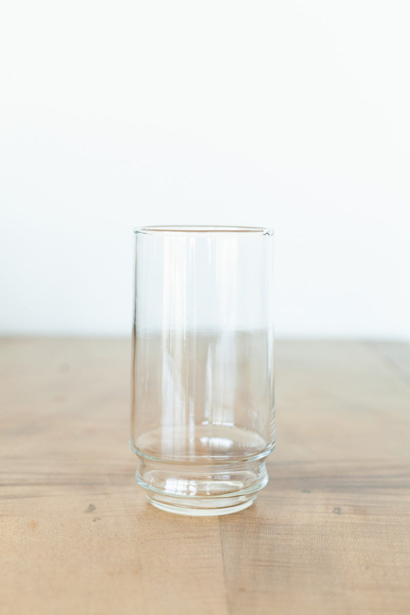 Set of Six Tall Clear Glasses - Fallow Home.