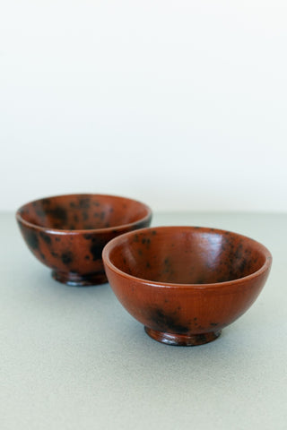 Set of Two Brown/Black Handmade Ceramic Mugs