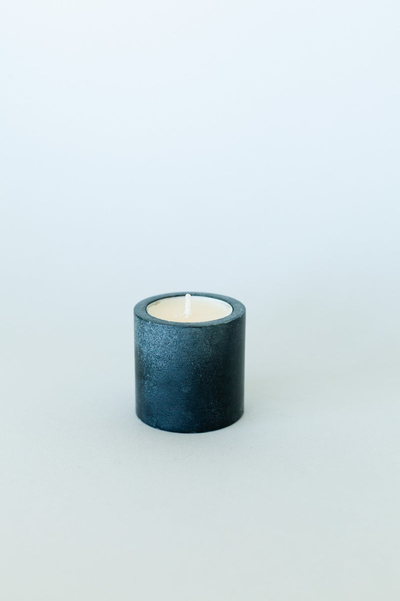 Black Stone Tealight Holder - Fallow Home.