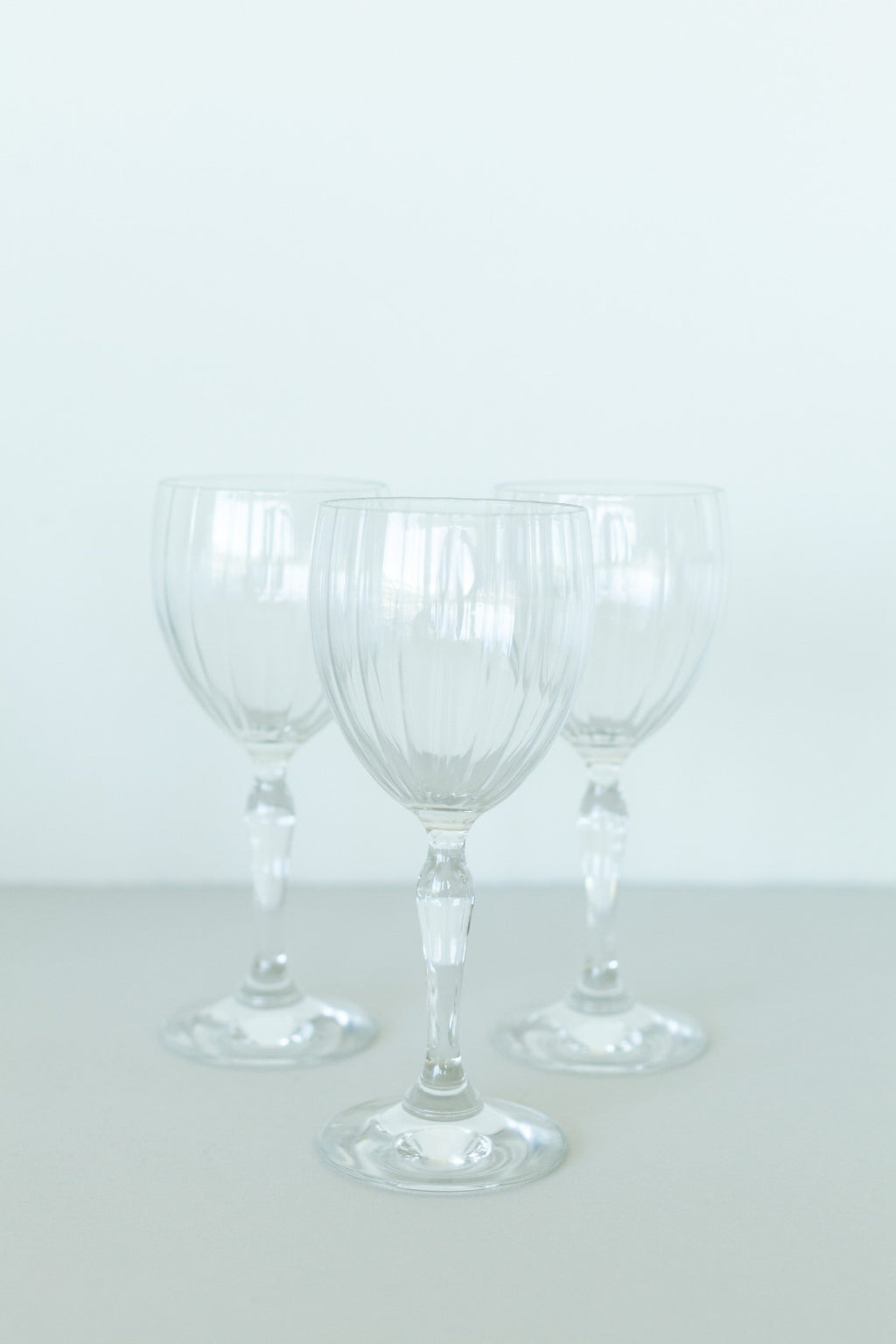 Set of 7 Crystal Wine Glasses - Fallow Home.