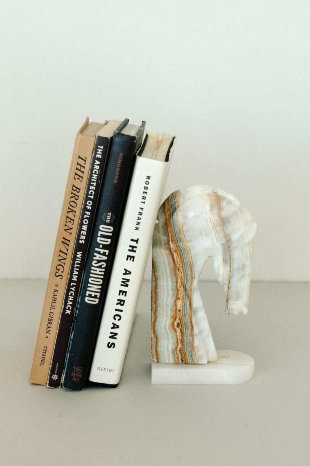 Onyx Horse Head Bookend - Fallow Home.