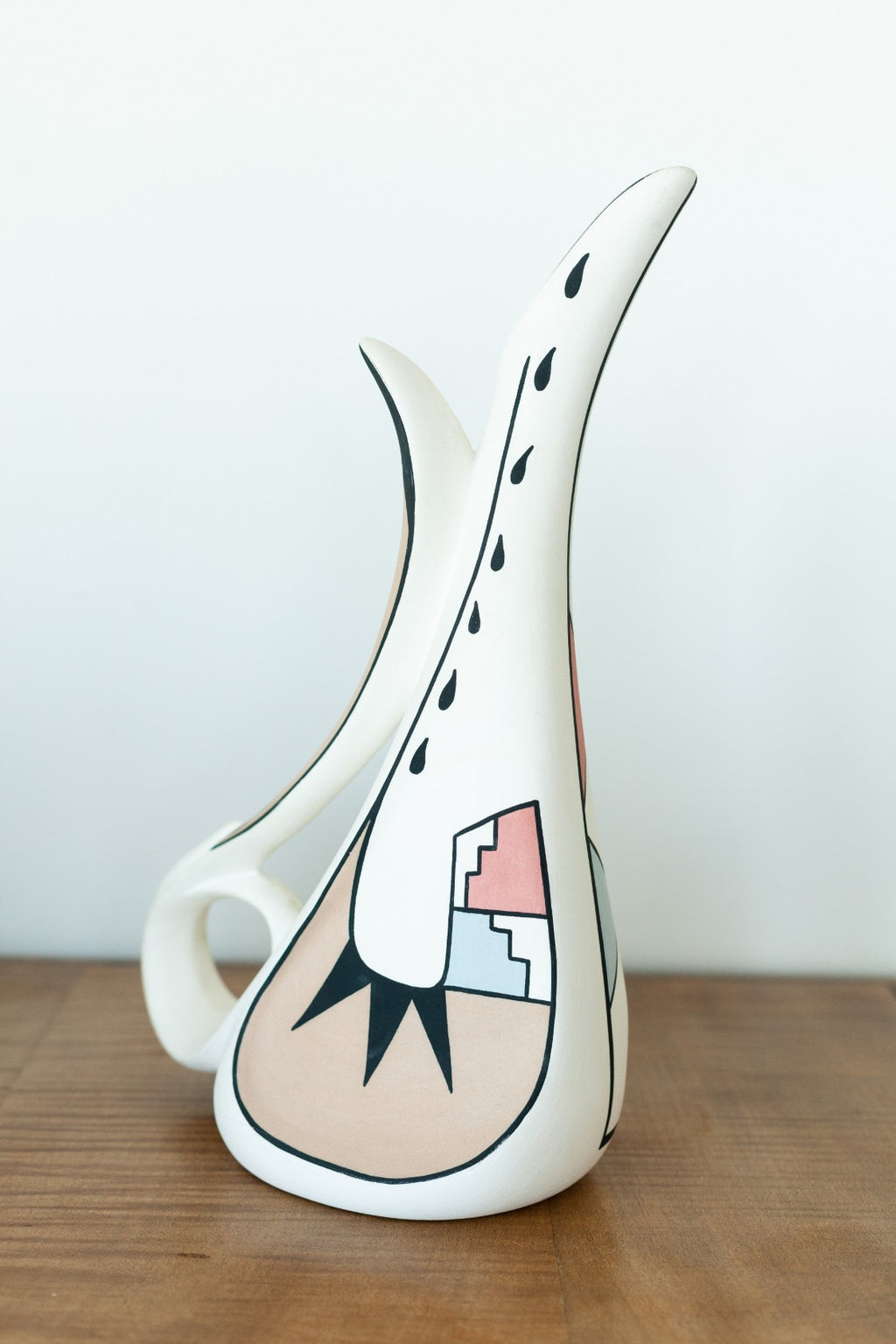 Decorative Painted Vase - Fallow Home.