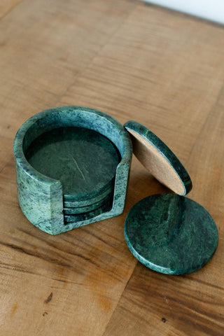 Black Stone Tealight Holder